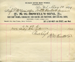 Receipt from M. Howell & Co to P. McCormick
