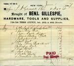 Receipt from Benj. Gillespie to P. McCormick