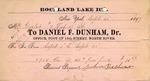 Receipt from Daniel F. Dunham to Ogden Goelet