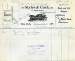 Receipt from Styles & Cash to The Estate of Ogden Goelet
