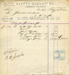 Receipt from Otis Brothers & Co to The Goelet Estate