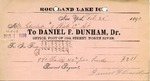 Receipt from Daniel F. Dunham to Ogden Goelet