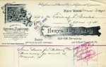 Receipt from Herts Brothers to Estate of O. Goelet (March '98)