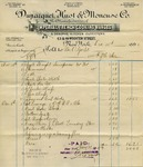 Receipt from Duparquet, Huot & Moneuse Co. to Ogden Goelet