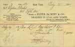 Receipt from Peter De Witt & Co. to Ogden Goelet