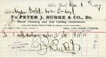 Receipt from Peter J. Burke & Co. to Ogden Goelet