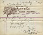 Receipt from M. Reid & Co. to Ogden Goelet
