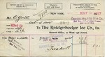 Receipt from The Knickerbocker Ice Co. to Ogden Goelet