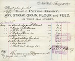 Receipt from Peter Barry to Ogden Goelet