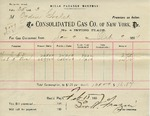 Receipt from Consolidated Gas Co of New York to Ogden Goelet