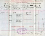 Receipt from Department of Public Works to Ogden Goelet