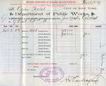 Receipt from Department of Public Works to Ogden Goelet