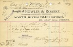 Receipt from Bowles & Roarke to Estate of Robert Goelet by Bowles & Roarke