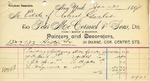 Invoice from Peter McCormick & Sons to Estate of Robert Goelet