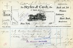 Receipt from Styles & Cash to Estate of R. Goelet