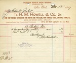 Receipt from H. M. Howell & Co. to Robert Goelet