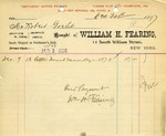 Receipt from William H. Fearing to Robert Goelet