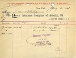 Receipt from Queen Insurance Company of America