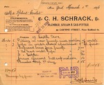Receipt from C. H. Schrack to Robert Goelet
