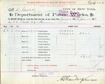Receipt from Department of Public Works to Robert Goelet