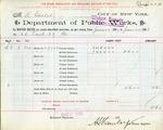 Receipt from Department of Public Works to Robert Goelet