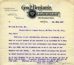 Letter from Geo. P. Benjamin