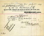 Receipt from H. M. Howell & Co.