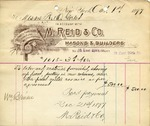 Receipt from M. Reid & Co.