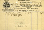 Receipt from The Carter's Ink Company
