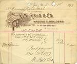 Receipt from M. Reid & Co.