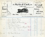 Invoice from Styles & Cash