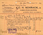 Receipt from C. H. Schrack
