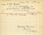 Receipt from J. L. Chapin