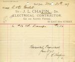 Receipt from J. L. Chapin