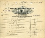 Receipt from The Van Wagenen Ship Chandlery