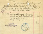 Receipt from Eagle Fire Company