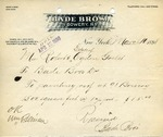 Receipt from Bade Bros. by Bade Bros.