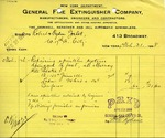 Receipt from General Fire Extinguisher Company