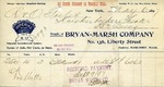 Receipt from Bryan Marsh Company $37.50