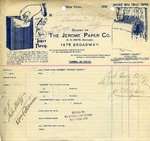 Receipt from The Jerome Paper Co.