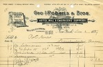Invoice from Geo. I. Roberts & Bros.
