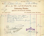 Receipt from J. W. Cooney