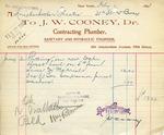 Receipt from J. W. Cooney