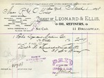 Receipt from Leonard & Ellis