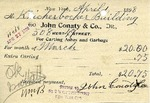 Receipt from John Conaty & Co.