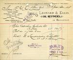 Receipt from Leonard & Ellis