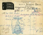 Receipt from Jenkins Bros.