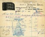 Receipt from Jenkins Bros.