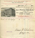 Invoice from Warren, Fuller & Co.