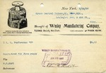 Receipt from Wesley Manufacturing Company
